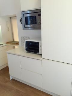 Oven, microwave, fridge, freezer, dishwasher, toaster, kettle, coffe maker...