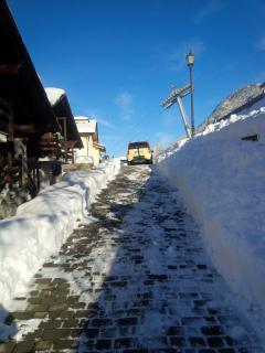 Strada privata per accesso allo chalet