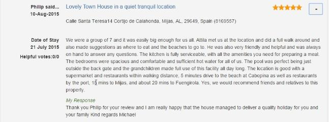 Philip from the UK gives his impressions of the house