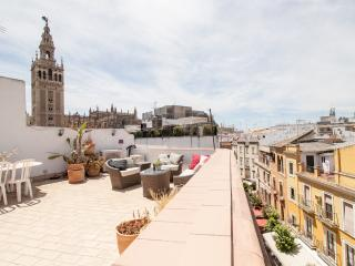 INCREDIBLE TERRACE WITH VIEWS TO THE CATHEDRAL.Apartment full equiped