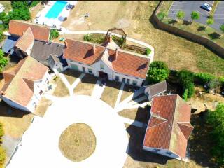 Aerial view of Château Des Termelles gives