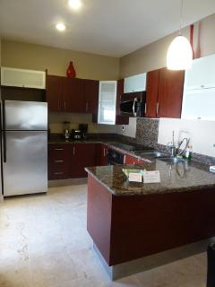 Full equipped kitchen.