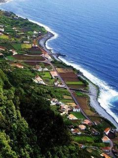 Aerial view taken of Faja dos Vimes