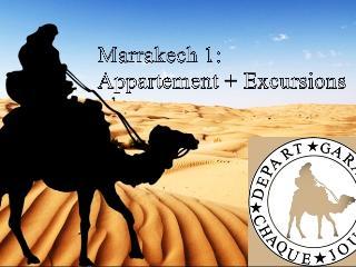 Marrakech 1: apartment + Excursions, Marrakesh
