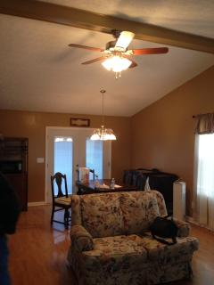 Enjoy the open living area w/ cathedral ceiling.....