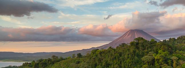 Arenal Volcano as the sun begins to set...seen from the terrace