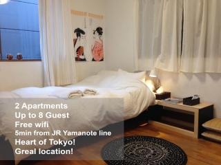 2APT in Harajuku For Groups- 5min to JR Yamanote, Shibuya