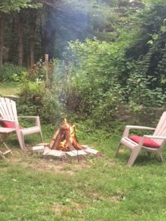 Back yard firepit