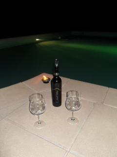 Soirée détente avec du vin local
