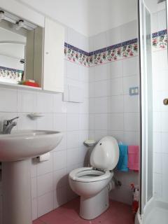 Il bagno con doccia e bidet integrato nel water