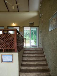 Staircase from living to dining