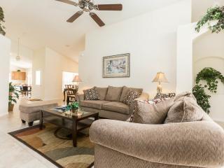 Unwind on comfortable furniture, Porcelain floor tiles, ceiling fan, flat screen Tv