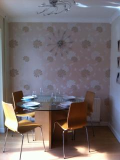 The dining area of the kitchen.