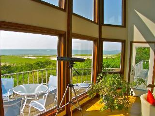 Spectacular water views are yours from this superb bay front home in Orleans.