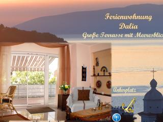 Apartment Dalia, large terrace with sea view, Cres