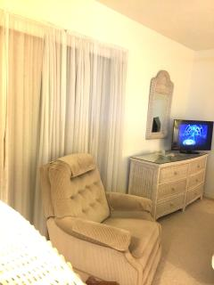 Master Bedroom with Recliner and TV