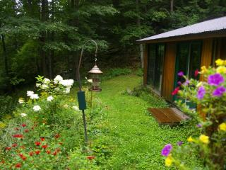 "At Cooper Lake ""Romantic""  Cedar Log  Cottage bordering Algonquin Park $175/nite"