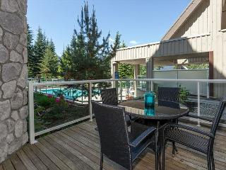 Upgraded ground floor condo with large patio facing pool area.