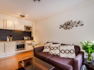 living area and fully equipped kitchen. Sofa bed for additional guests