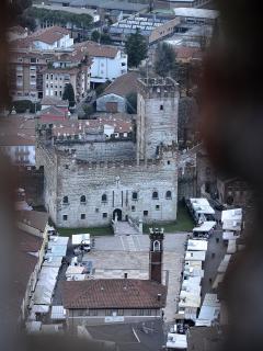 Marostica vista dal castello superiore del castello inferiore