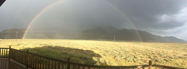 Rainbow viewed from our deck.  Picture taken by one of our guests!