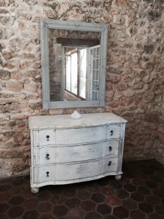 Far bedroom chest of drawers and mirror