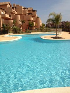 one of the many swimming pools near terrace