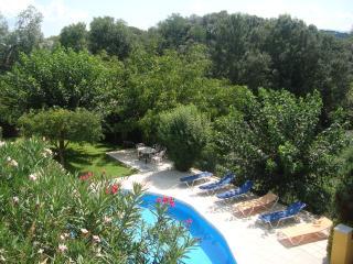 Panoramic view of pool and surrounding scenery
