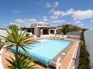Playa Blanca holiday villa rental with heated pool