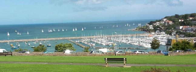 View of yacht race & marina from cottage