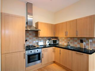 Compact, well-designed Kitchen with Fridge/Freezer, Dishwasher, Cooker, Microwave etc.
