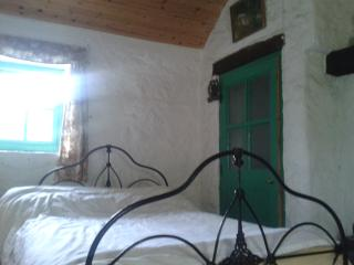 Brigadoon bedroom combined with built in shower and open fire.