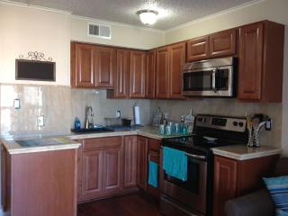 Newly remodeled kitchen with everything you need with brand new stainless steel appliances