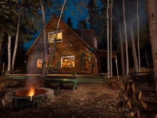 Moose Walk Cabin night view