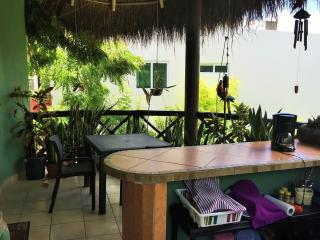 Complete kitchen just like home under a super fresh palapa, So beaytiful at night under the stars