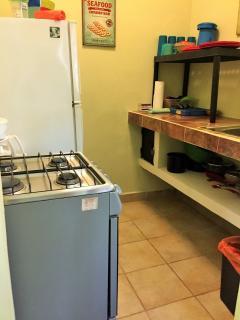 Complete galley kitchen