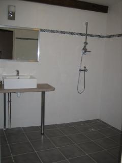 Salle d'eau (Douche à l'italienne et WC) au Rez de Chaussée