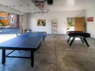 Game Room with a Ping Pong and Foosball Table.