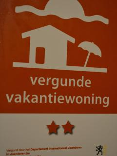 Home Trietje is awarded a two star vacation house