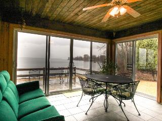 Lakefront home w/amazing water views, private dock, sauna, & 17 acres, North Hero