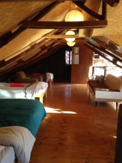Loft sleeping and living area