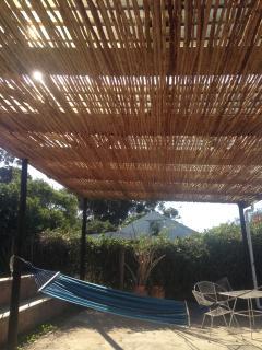 Shady deck and hammock
