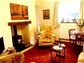 Cosy Lounge & Dining Room with Traditional Log Burning Stove