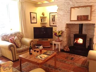 Cosy Lounge with Log Burning Stove in Traditional Inglenook Fireplace