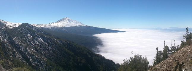 Parque Nacional de El Teide subiendo desde el monte de la Esperanza.