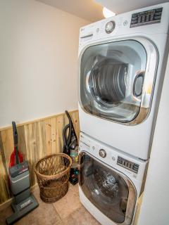 Brand new washer and dryer downstairs!