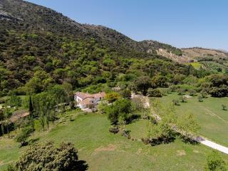 Secluded private vacation rental with breathtaking views, close to Ronda, Andalucia in Spain.
