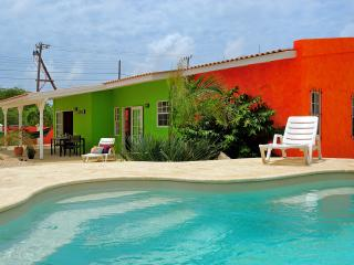 Tropical apartments surrounding a pool in Bonaire,, Kralendijk