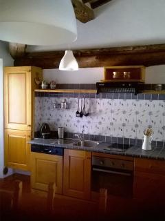 La cucina-soggiorno nell'Appartamento nel Casale
