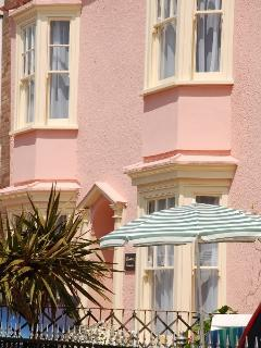 Tenby house rental - View of front of Woodbine Cottage